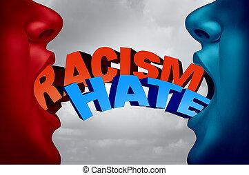 haine, question, racisme, social