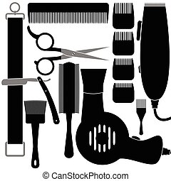 Hair accessories - Illustration set of tools for...