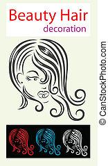 Hair beauty icon