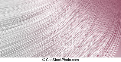 Hair Blowing Closeup - A 3D render of a closeup view of a...