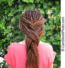 Hair braid with dreadlocks hairstyle