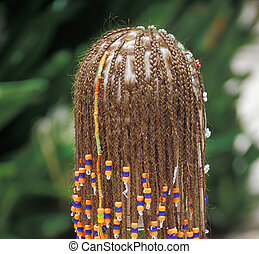 Hair Braids - Female wearing hair braids and extensions.