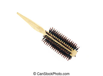 hair brush isolated on white background