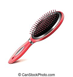 Hair brush isolated on white vector