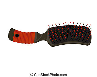 hair brush on white background