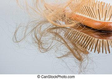hair brush - a hair brush with haeren. beginning of hair...