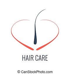 Hair care follicle icon - Hair care logo. Hair follicle...
