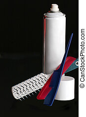 Hair care - hair care made easy with combs, brush and hair...