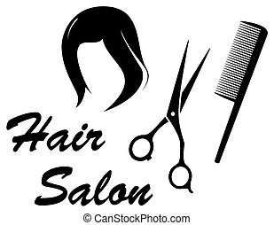 hair care icon with woman head - hair care isolated icon...