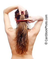 Hair care - Comb your hair delicately after washing hair