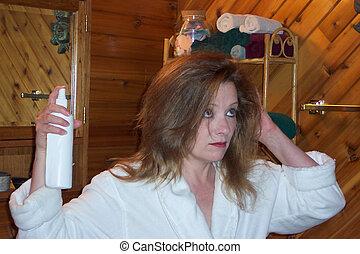 Hair care - Tease, brush, spray,tease,brush,spray!
