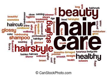 Hair care word cloud - Hair care concept word cloud...
