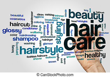 Hair care word cloud