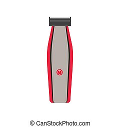Hair clipper icon vector illustration trimmer barber electric beard. Body care cut shop beauty shaver