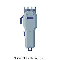 Hair Clipper or Electric Razor Cartoon Style Vector Illustration