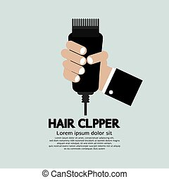 Hair Clipper, Tool Of Hairdresser Vector Illustration