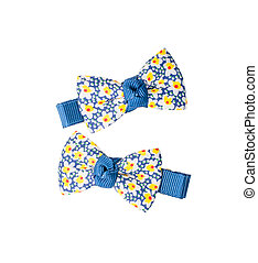 Hair clips on white background