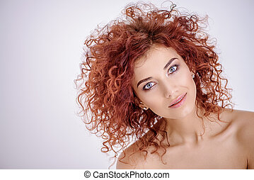 hair coloring style - Beauty, hair concept. Beautiful joyful...