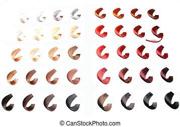 hair colors sample - hair color sample