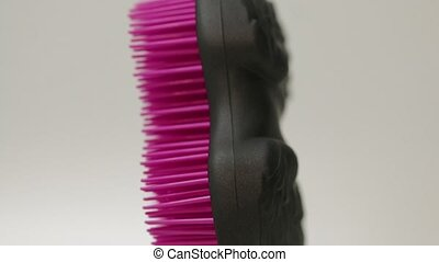 Hair Comb Black Pink - Luxury professional hair brush on a...