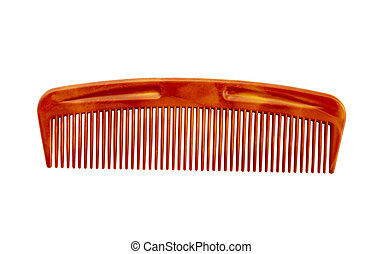 Hair comb isolated on white