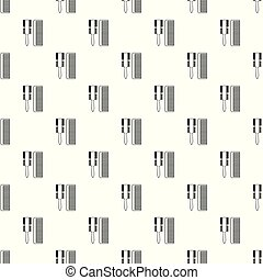 Hair comb pattern vector seamless