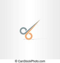 hair cut scissors vector icon