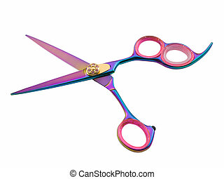 Hair Cutting Shears - Photo of hair cutting shears isolated...