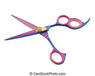 Hair Cutting Shears - Photo of hair cutting shears isolated...