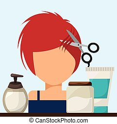 hair dressing design, vector illustration eps10 graphic
