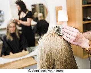 Hair Dressing Close up