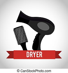 hair dryer design, vector illustration eps10 graphic