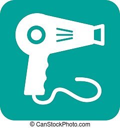 Dryer, hair, blow icon vector image. Can also be used for makeup and accessories. Suitable for use on web apps, mobile apps and print media.