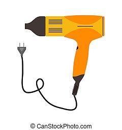 Hair dryer icon vector salon beauty symbol. Illustration hairdresser isolated hairdryer barber sign