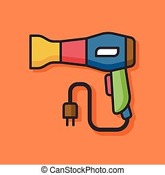 Hair dryer vector icon