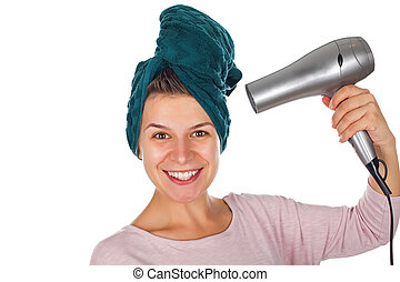 Hair drying after shower