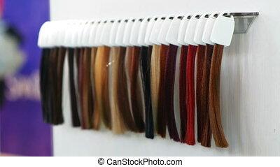 hair dye strands samples hair dresser - hair dye strands...