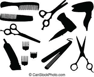 Hair equipment - vector illustration