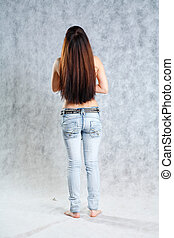 Hair Flick - Beautiful hair from behind swaying while...