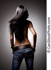 Hair flick - Beautiful hair from behind