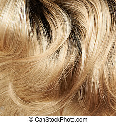Hair fragment as a background composition - Open wave hair...