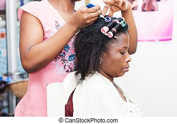 Hair looping.