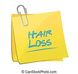 hair loss post illustration design