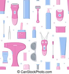 Hair removal seamless pattern