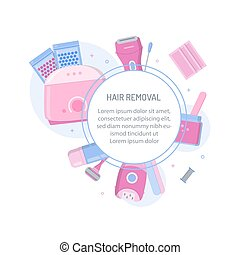 Hair removal template