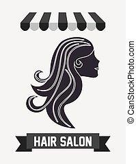 hair salon design - hair salon design, vector illustration...