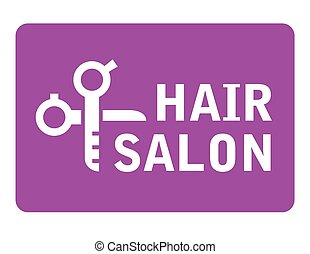 hair salon icon with scissors