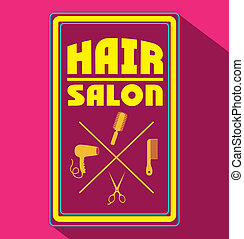 Hair salon over pink background,vector illustration