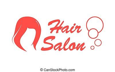 hair salon red icon