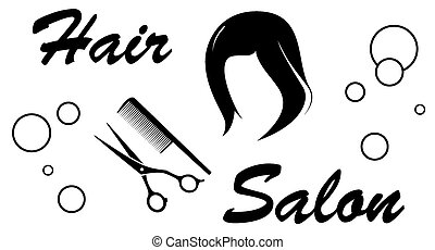 hair salon sign on white background